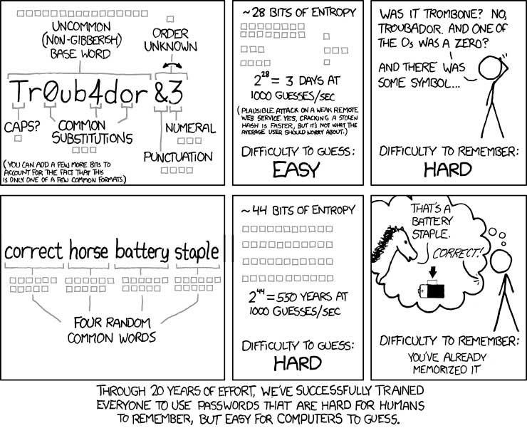Password Strength Cartoon